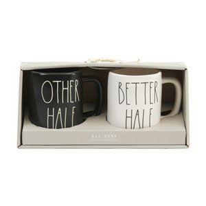 RAE DUNN 2pk Other And Better Half Mugs